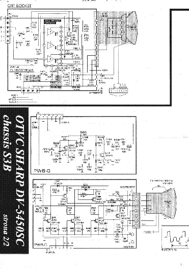 SHARP DV5450SC CH S3B Service Manual download, schematics