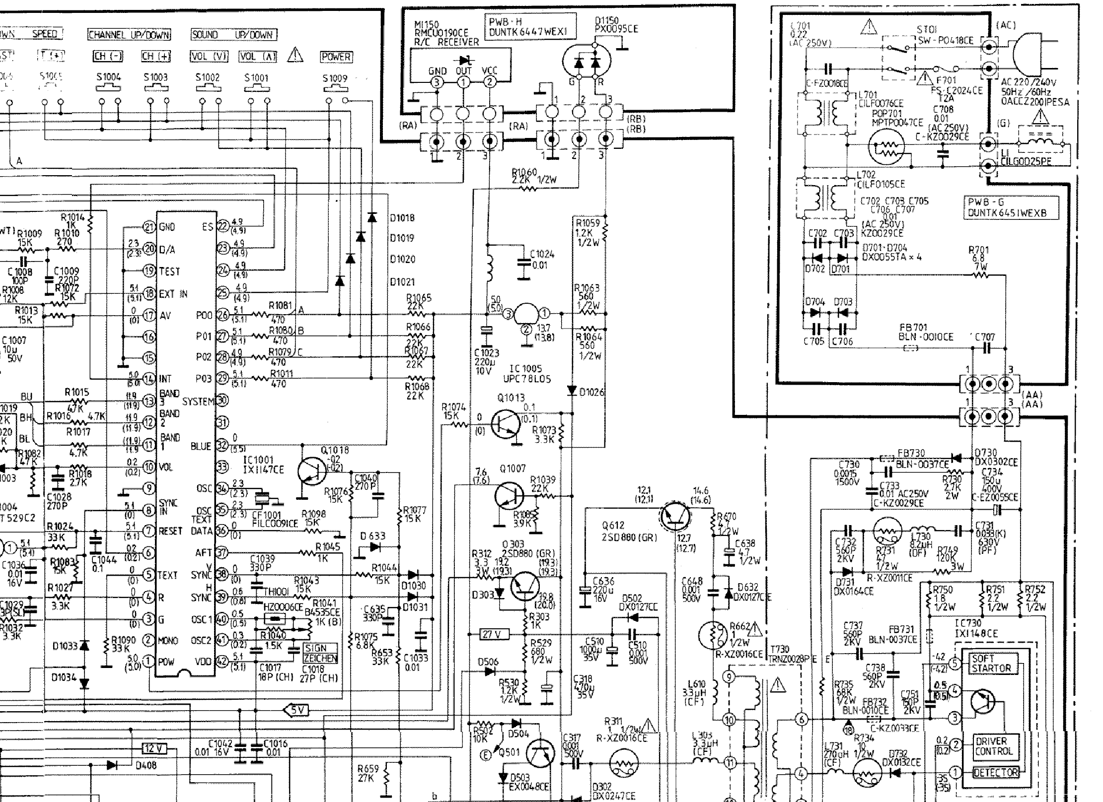 SHARP SV 2142SCN TV D Service Manual download, schematics