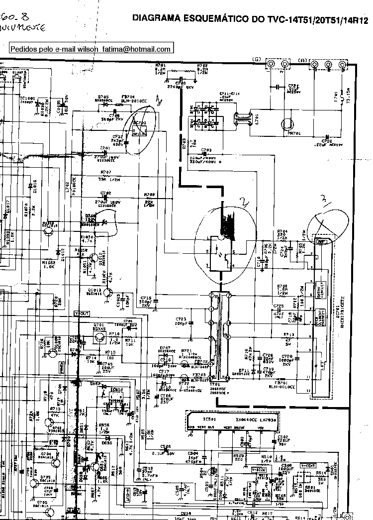 SHARP LC-32AX5H M X Service Manual download, schematics