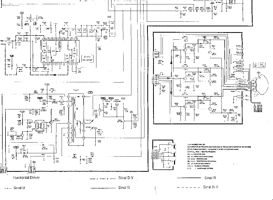SHARP TVC14ST57 Service Manual download, schematics