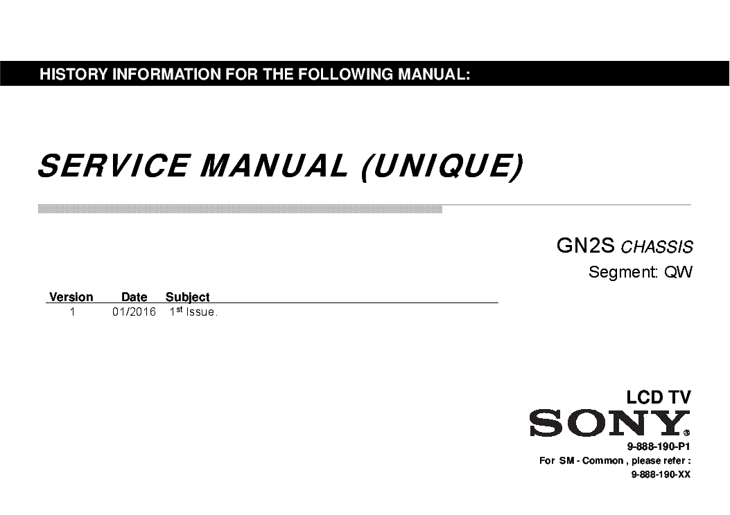 SONY KDL-32W600 KDL-32W607D KLV-32W602D KDL-40W650D KDL