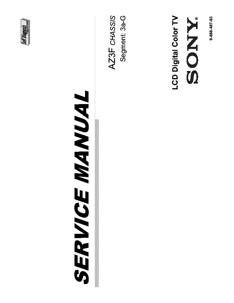SONY KDL 46HX855 AZ3F CHASSIS SM Service Manual download