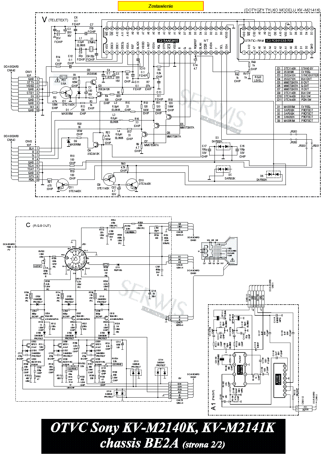 SONY CH BE2A Service Manual download, schematics, eeprom