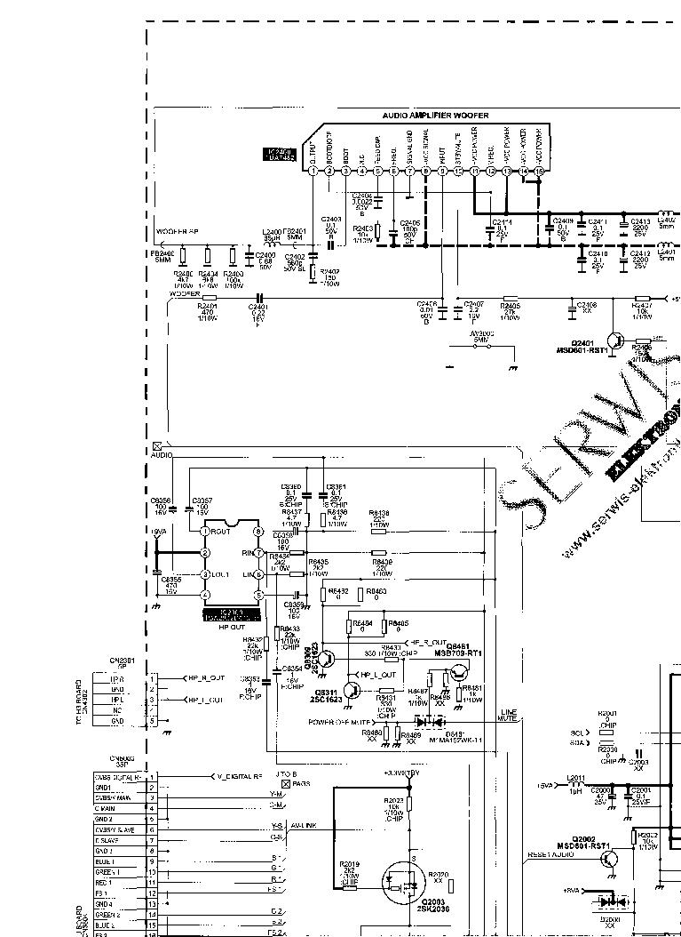 SONY KV-XG25P50 BG3R CXA2159 CXP86449 24C08 STR-F6656