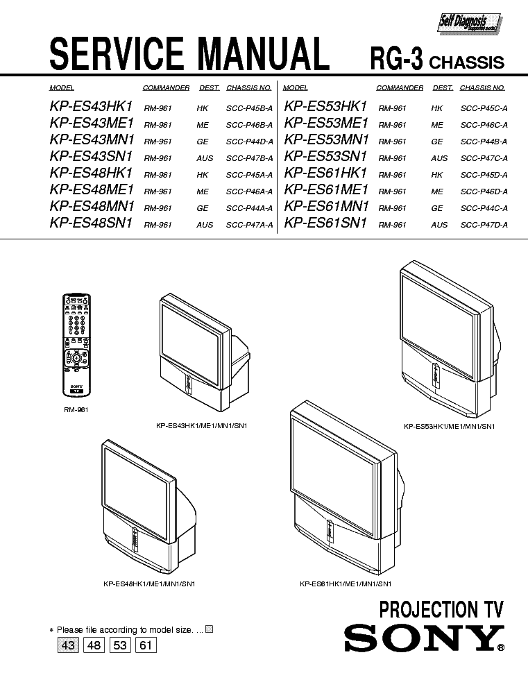 SONY KW-34HD1 HA-1 CHASSIS Service Manual free download