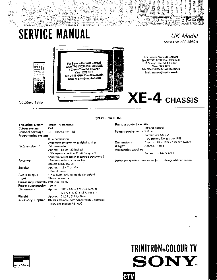 SONY KE-42MR1E SM Service Manual free download, schematics