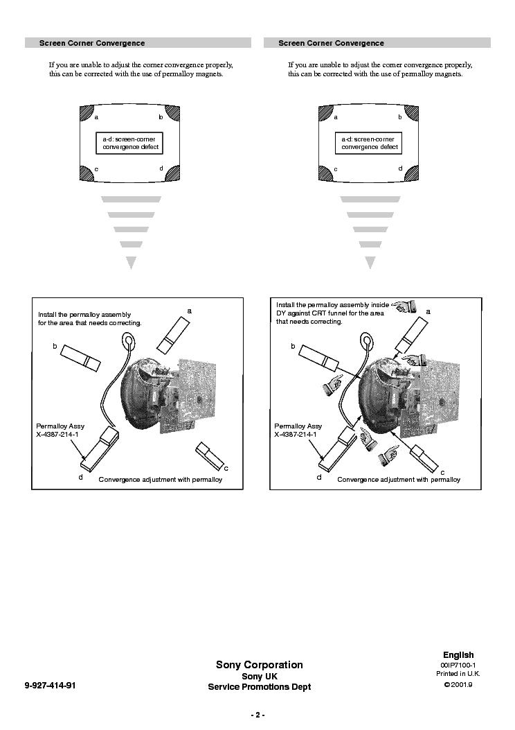 SONY KD-32DX100U 32NS100B 32NX100U CHASSIS AE-6D CORR-1 SM