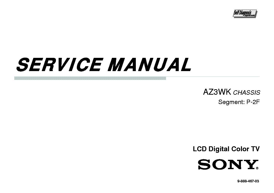SONY KDL-32BX350 KDL-40BX450 CHASSIS AZ3WK Service Manual