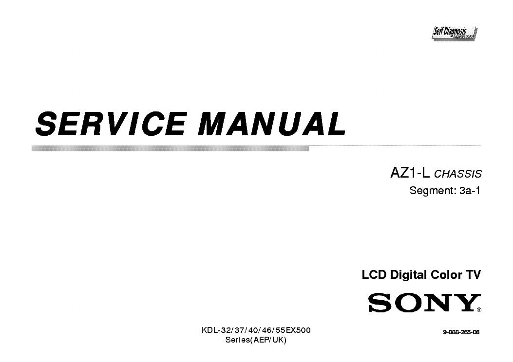 SONY KDL-32EX505 KDL-37EX505 KDL-40EX505 KDL-46EX505