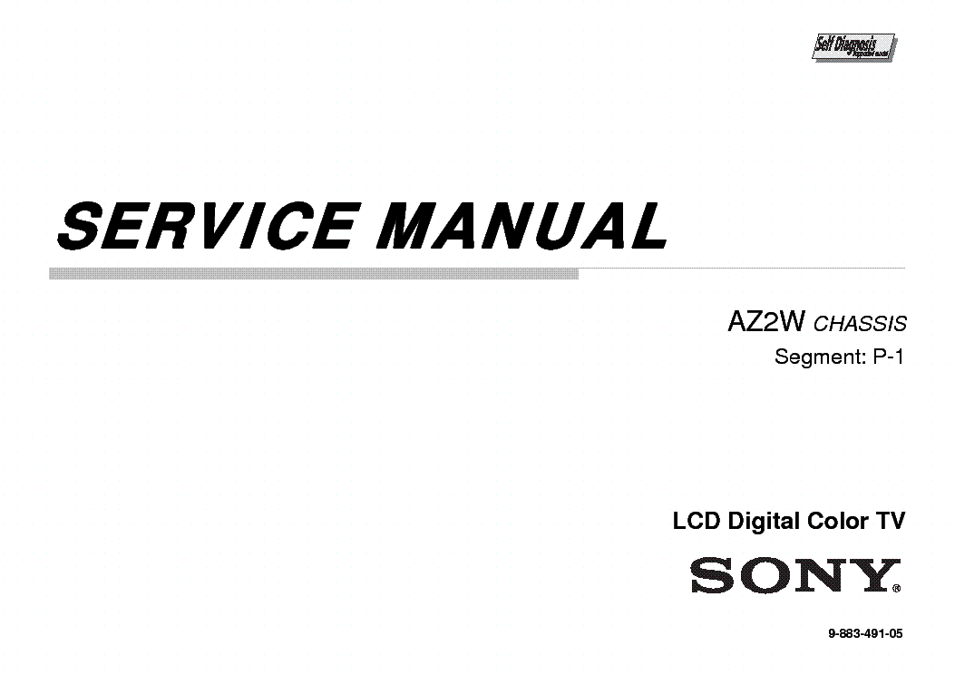 SONY KDL-32EX525 CHASSIS AZ2W Service Manual download