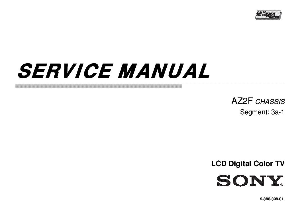 SONY KDL-40-46-55-60NX720 NX723 NX725 CASSIS AZ2F SEGM 3A