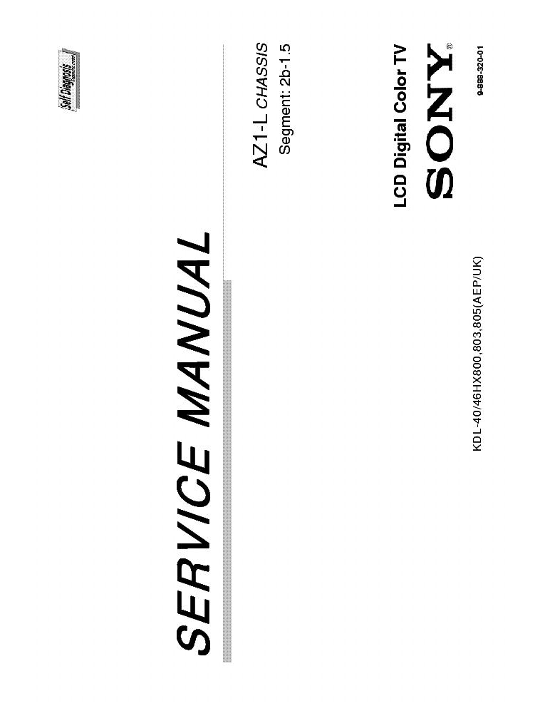 SONY KDL-40-46HX800-803-805 AEP-UK CHASSIS AZ1-L SM
