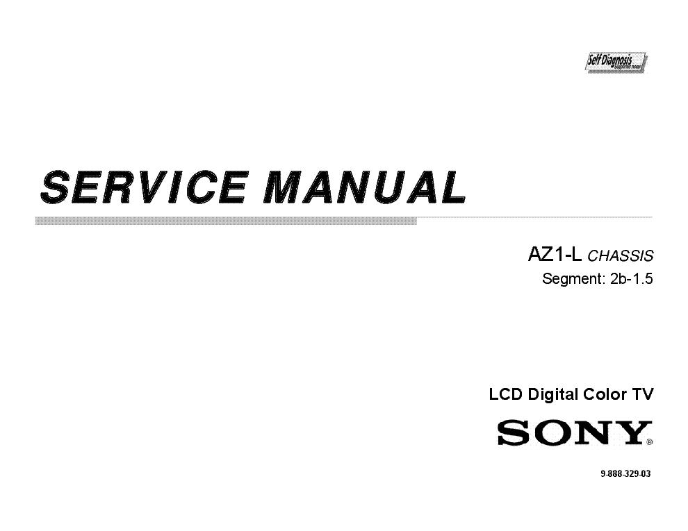 SONY KDL-40HX800 KDL-46HX800 KDL-55HX800 CHASSIS AZ1-L 9