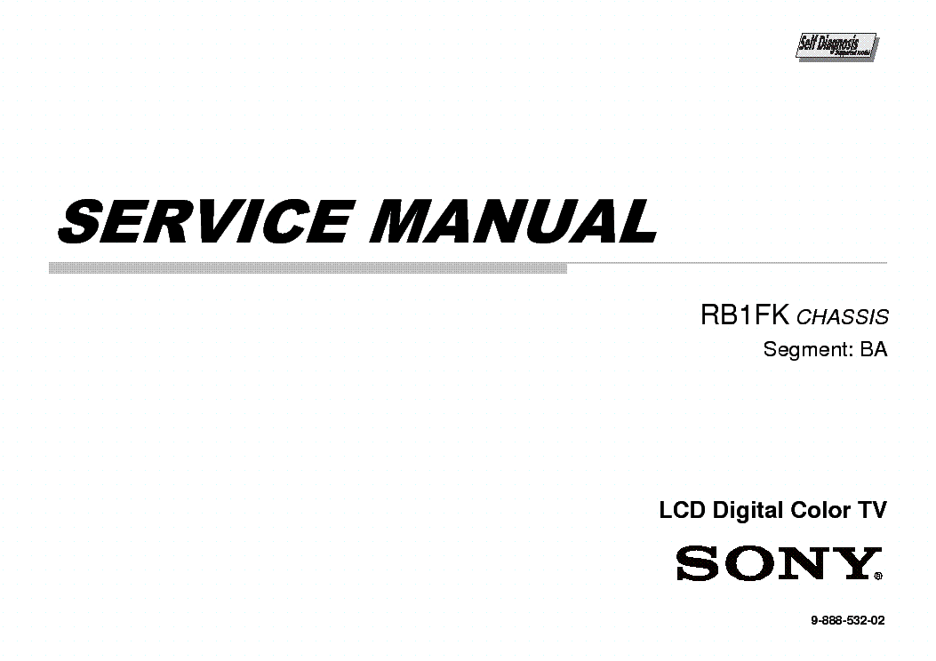 SONY KDL-40R474A CHASSIS RB1FK Service Manual download