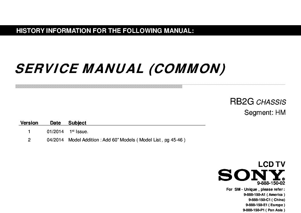 SONY KDL-40W580B 590B 600B 605B 607B 608B 48W580B 585B