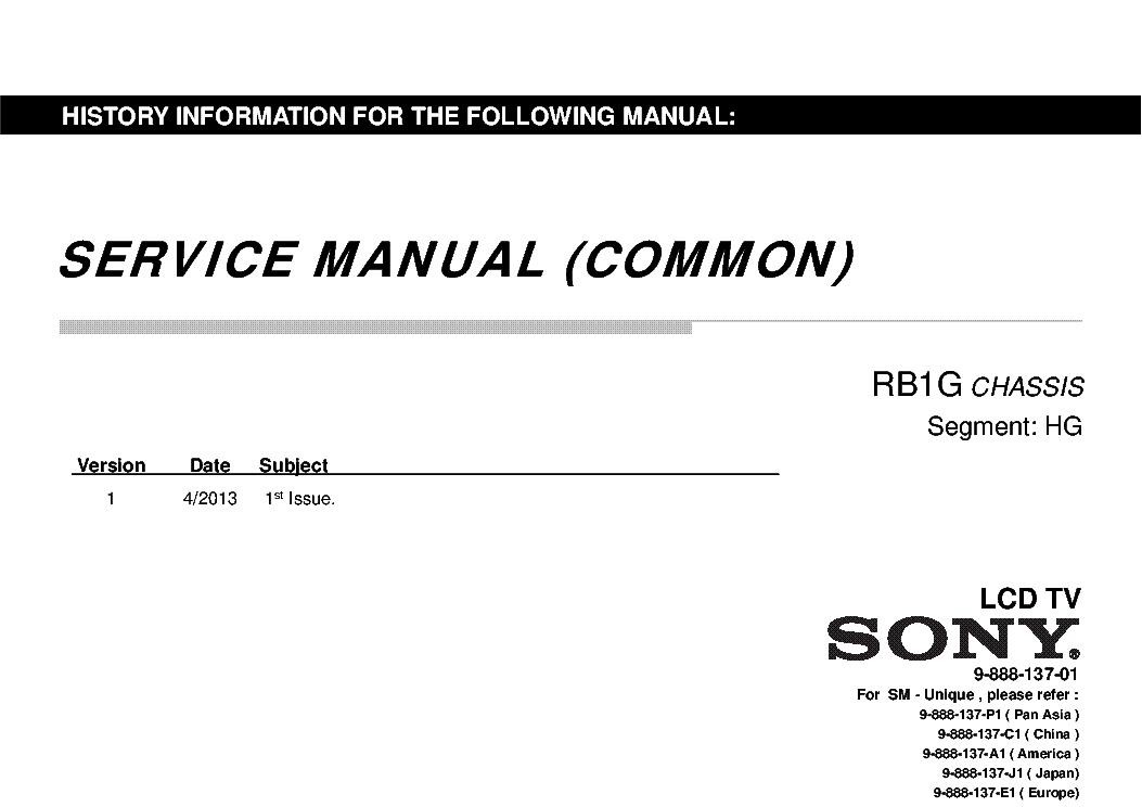 SONY KDL-40W900 KDL-46W900 KDL-55W900A KDL-40W904 KDL