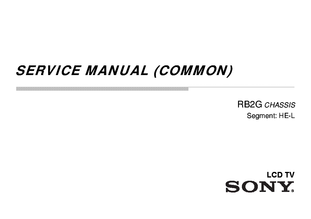 SONY KDL-42W815B CHASSIS RB2G SM Service Manual download