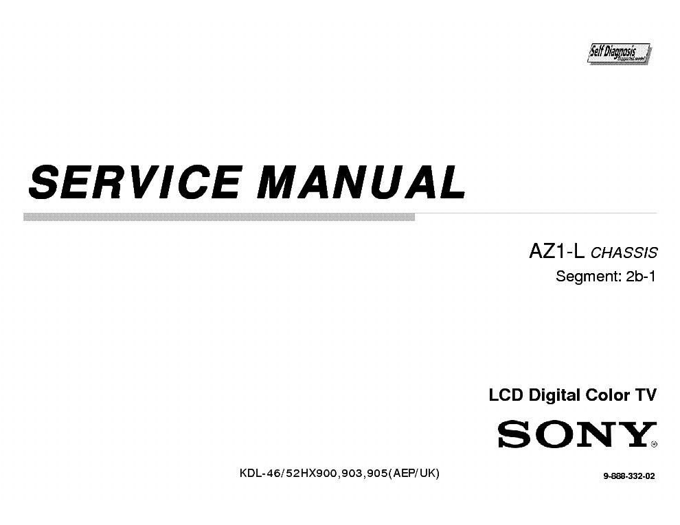SONY KDL-46HX900 46HX903 46HX905 52HX900 52HX903 52HX905