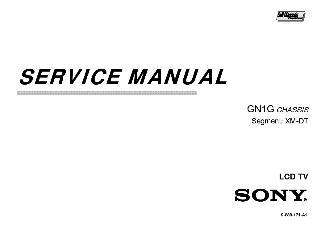 SONY KDL-50FA95C CHASSIS GN1G TROUBLESHOTING Service