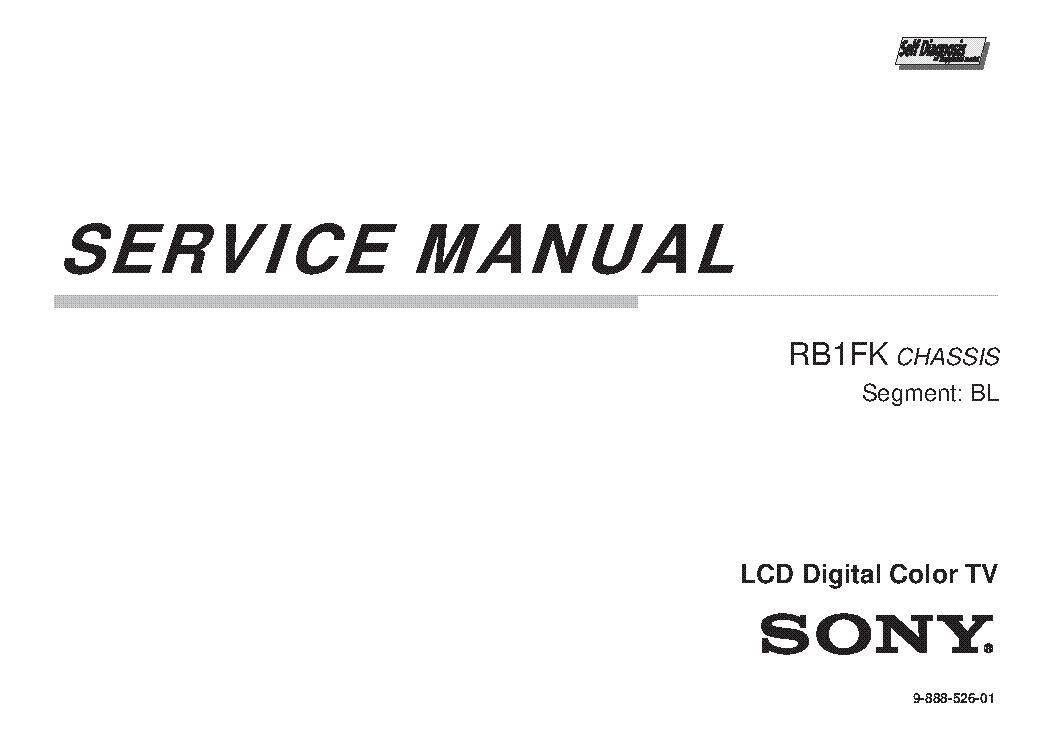 SONY KDL-50R550A KDL-50R556A KDL-60R520A KDL-60R550A KDL