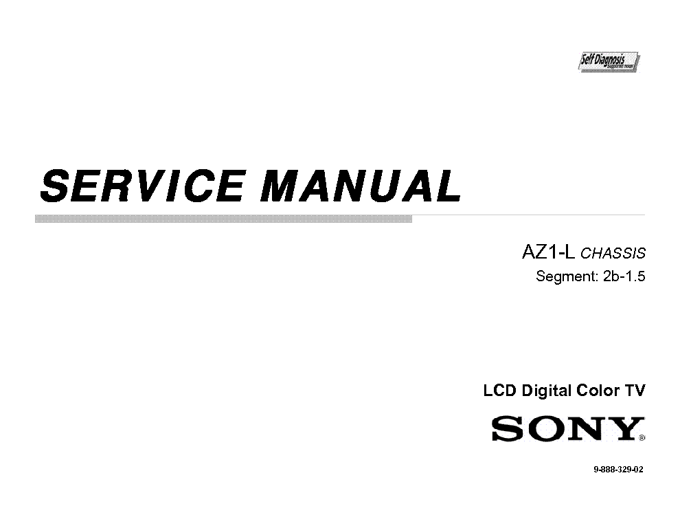 SONY KDL-55HX800 CHASSIS AZ1-L Service Manual download