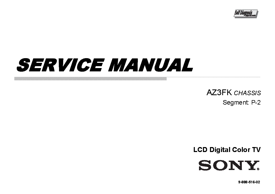 SONY KDL-60EX640 CHASSIS AZ3FK SM Service Manual download