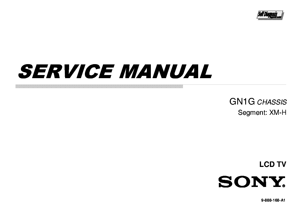 SONY KDL-65W855C CHASSIS GN1G SM Service Manual download