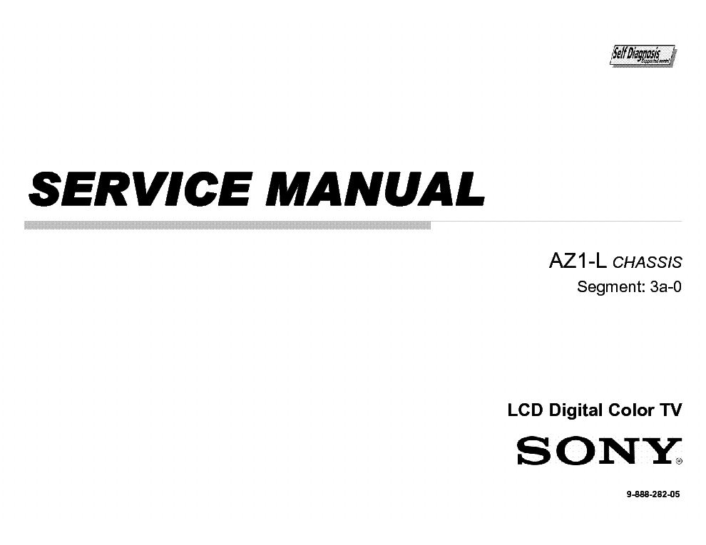 SONY KDL32 40 46 52 60-EX700 CHASSIS AZ1-L Service Manual