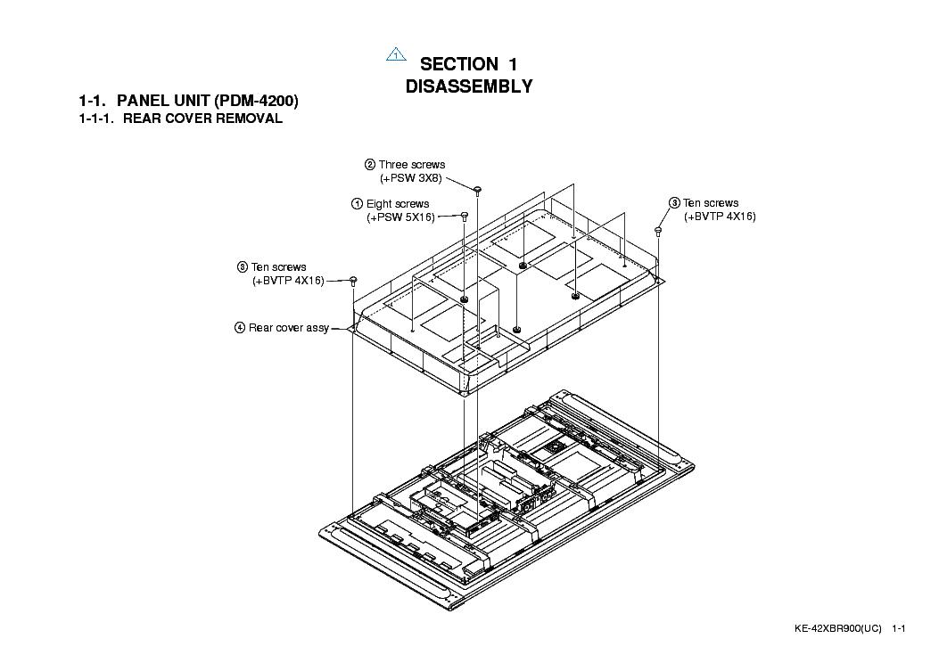 SONY KE-42XBR900 PARTS SCH Service Manual download