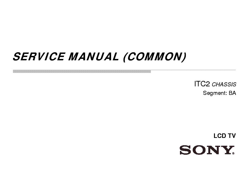 SONY KLV-24R402A Service Manual download, schematics