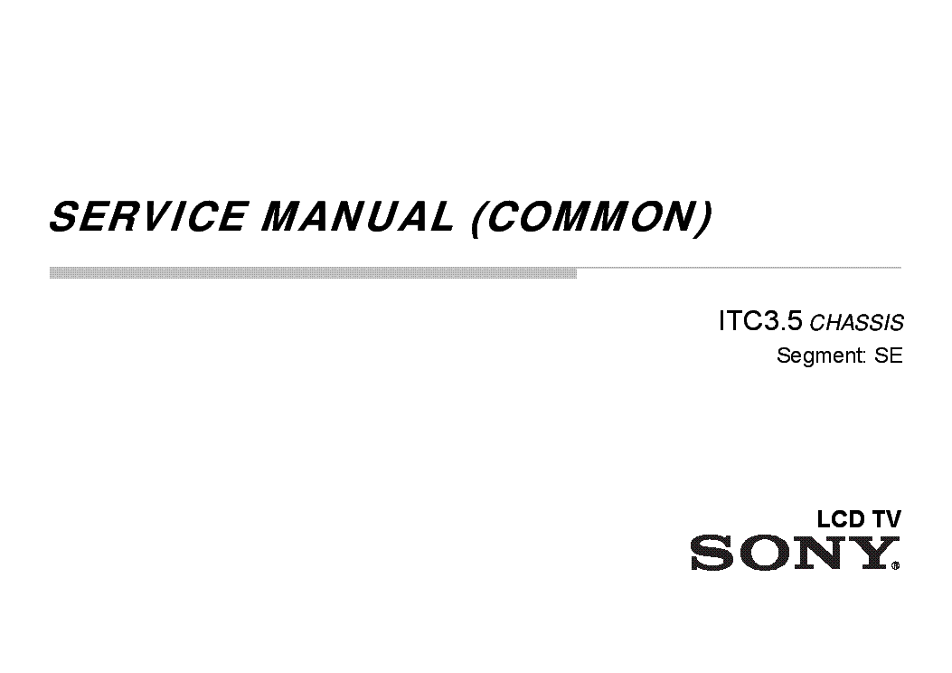 Download sony tv manuals