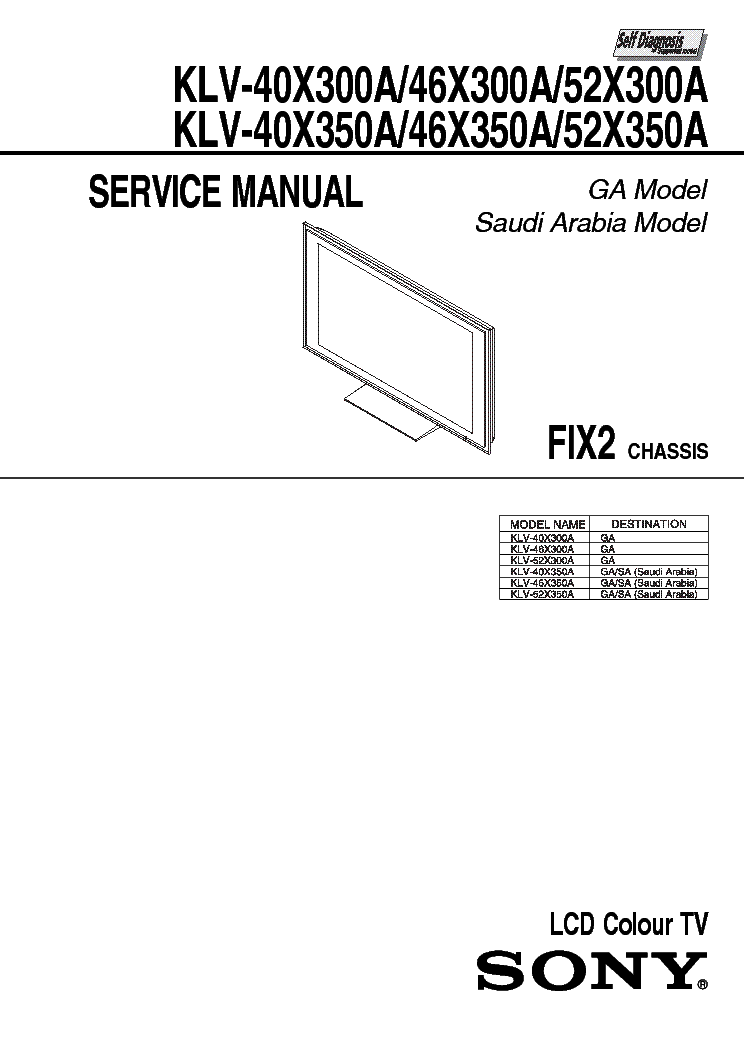 SONY KV-J21MF2-BG-2S Service Manual free download