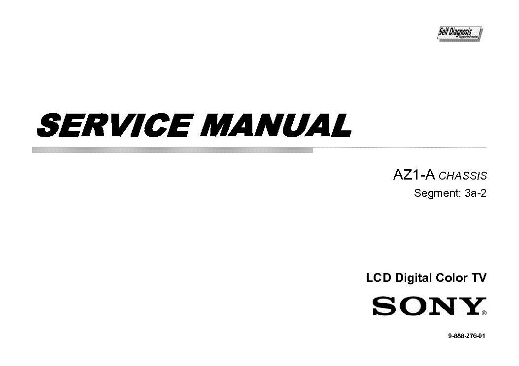 SONY KLV-46EX400 SM Service Manual download, schematics