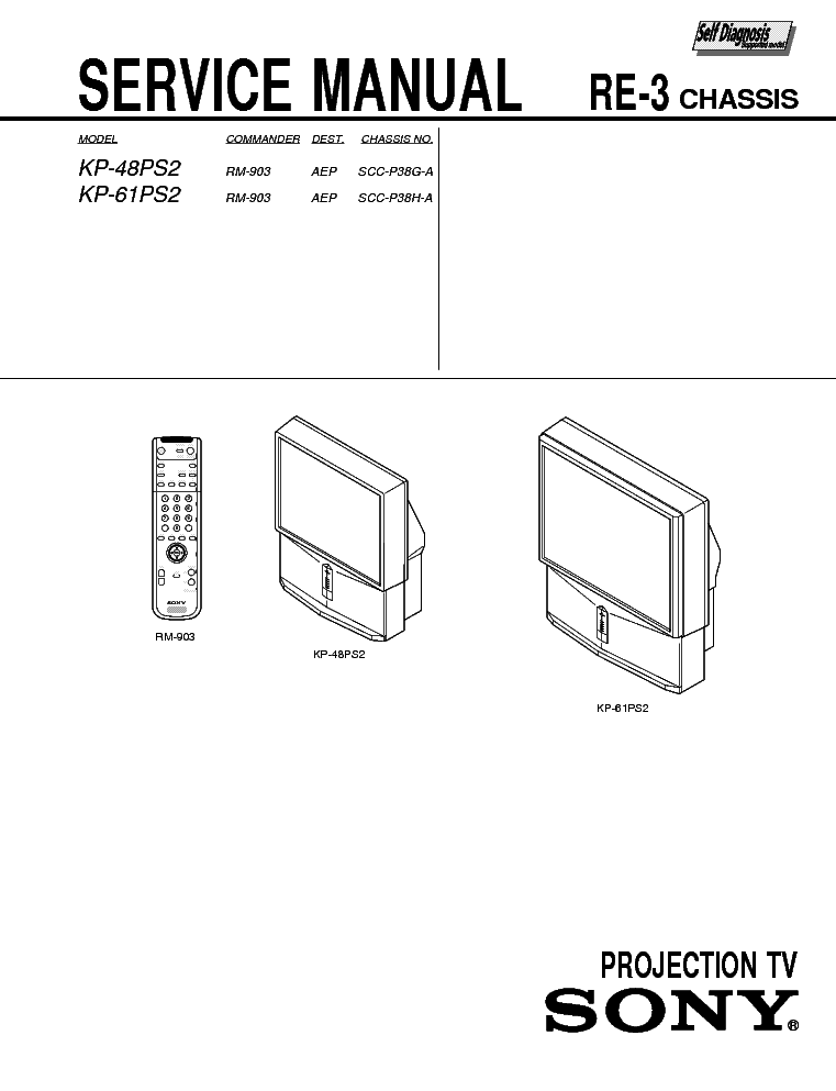 SONY KP-48PS2 KP-61PS2 SM Service Manual download