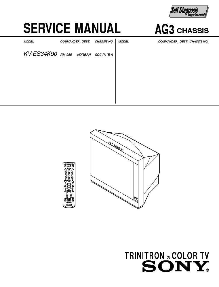 SONY KDL-42V4100 CHASSIS EX1 Service Manual download