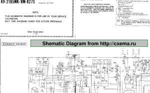 SONY TRINITRON TV KV2185MK SCHEMATIC Service Manual