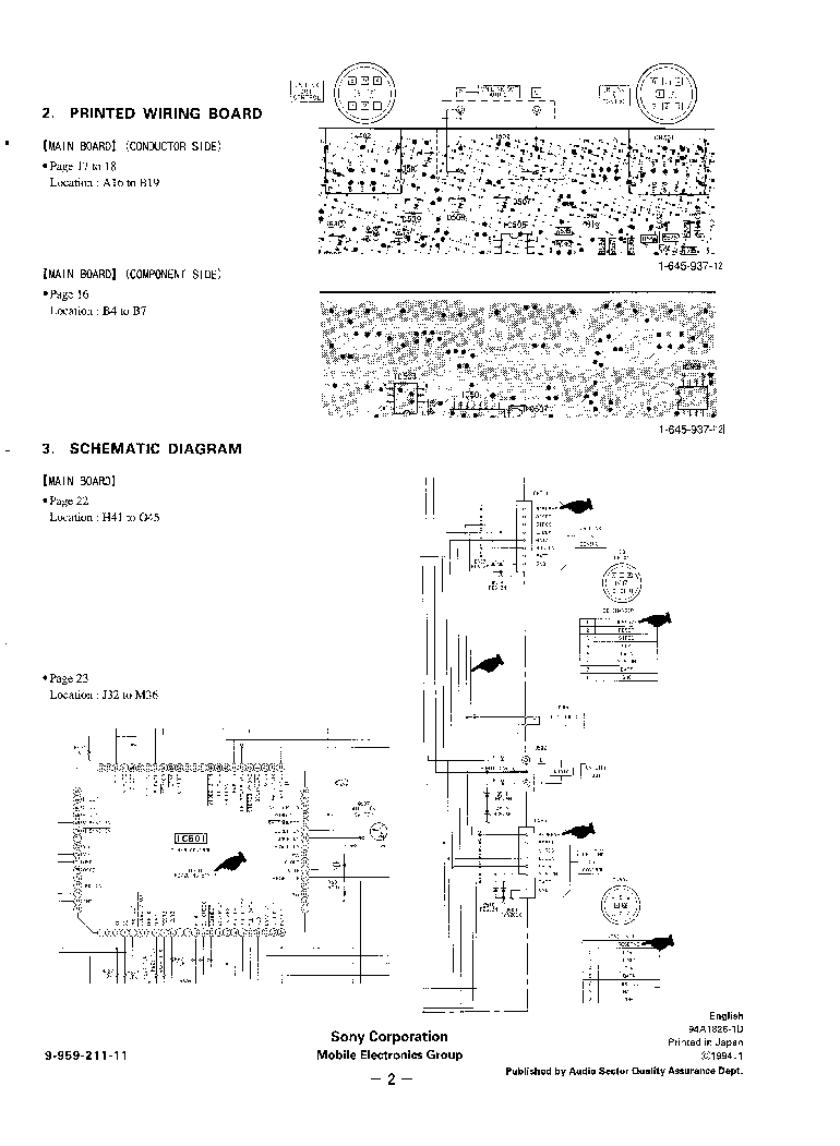 SONY XT-40V TV-TUNER Service Manual download, schematics