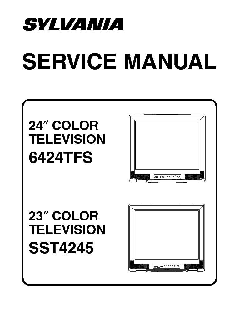 SYLVANIA 6424TFS SST4245 SM Service Manual download