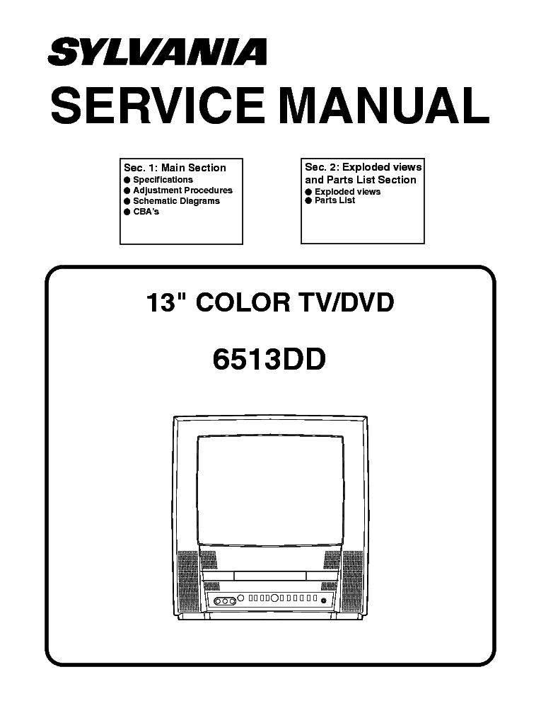 SYLVANIA 6620LF4 LCD Service Manual free download