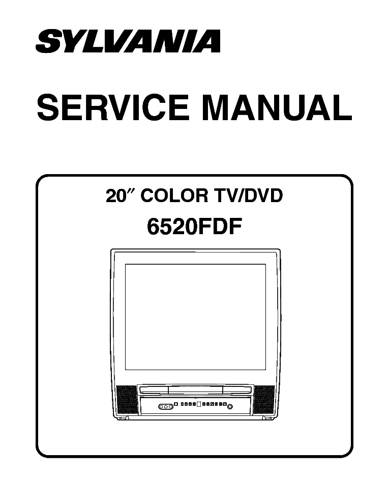 SYLVANIA 6520FDF TV-DVD COMBI Service Manual download
