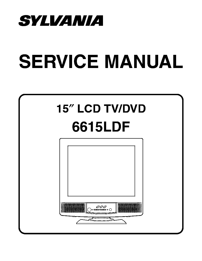 SYLVANIA 6615LDF Service Manual download, schematics