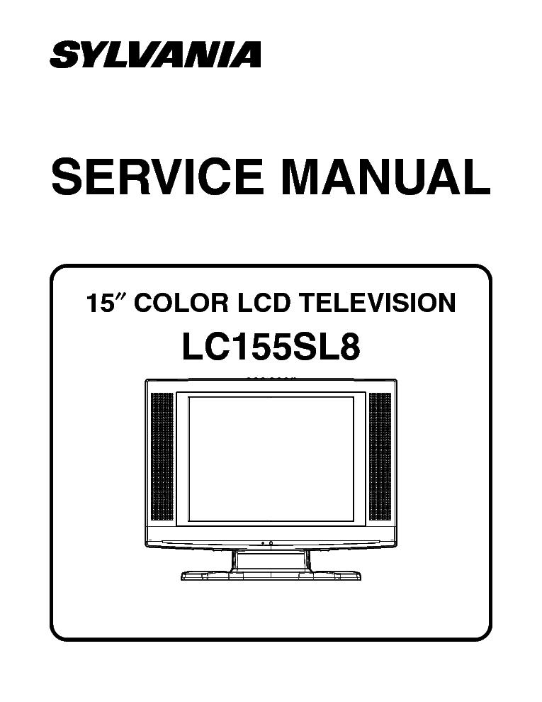 SYLVANIA LC155SL8 SM Service Manual download, schematics