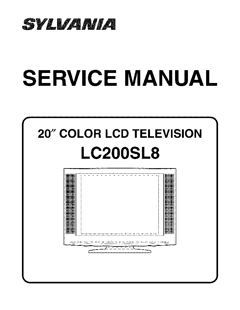 SYLVANIA 6720FDF SM Service Manual download, schematics