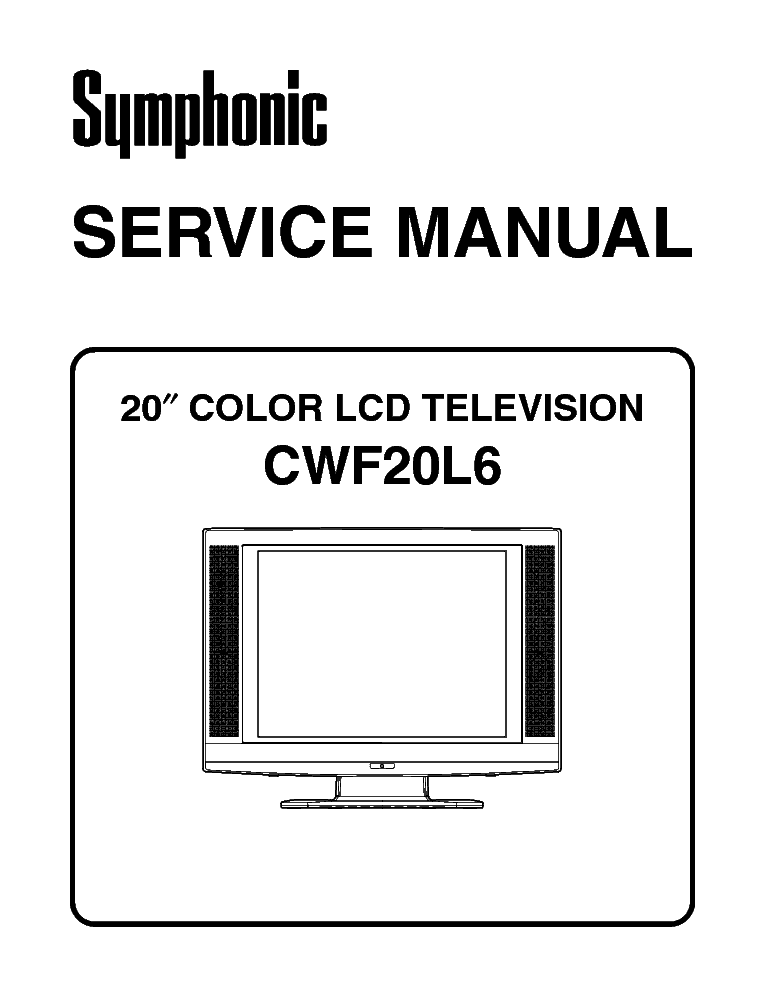 SYMPHONIC WF719 SM Service Manual download, schematics