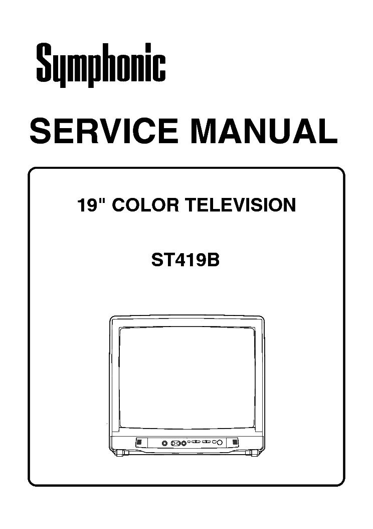 SYMPHONIC ST413E ST419E Service Manual free download