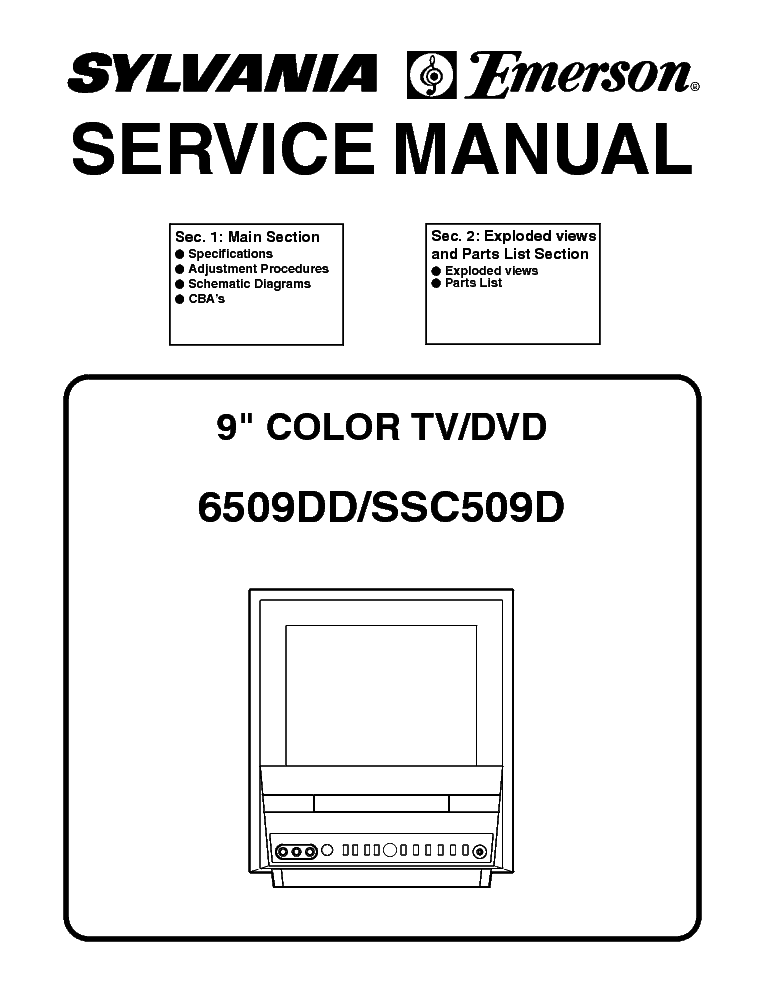 SYMPHONIC CSL1505 L3121CM LCD TV SUPPLEMENT Service Manual