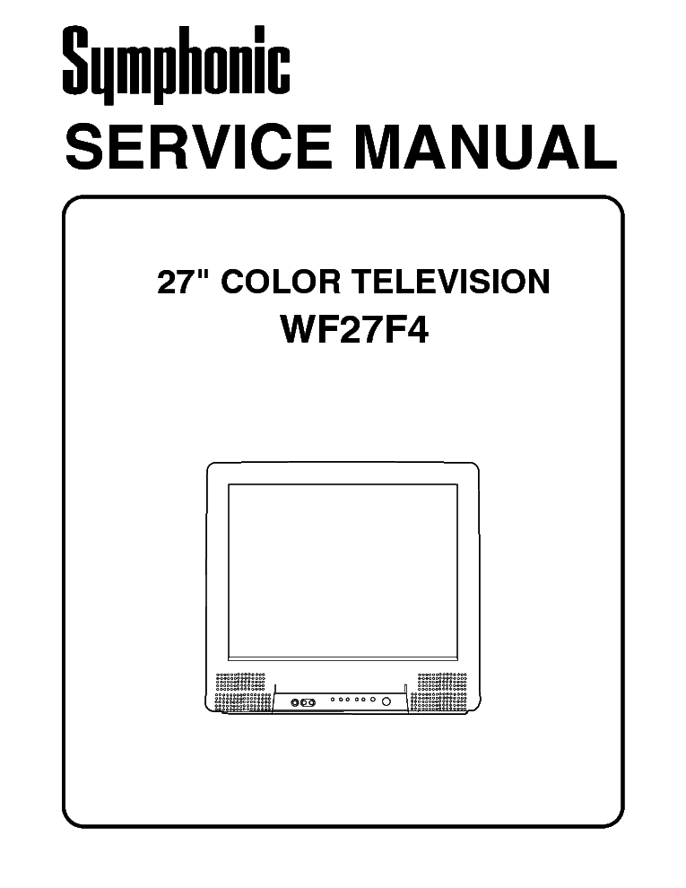 SYMPHONIC WF27F4 SM Service Manual download, schematics