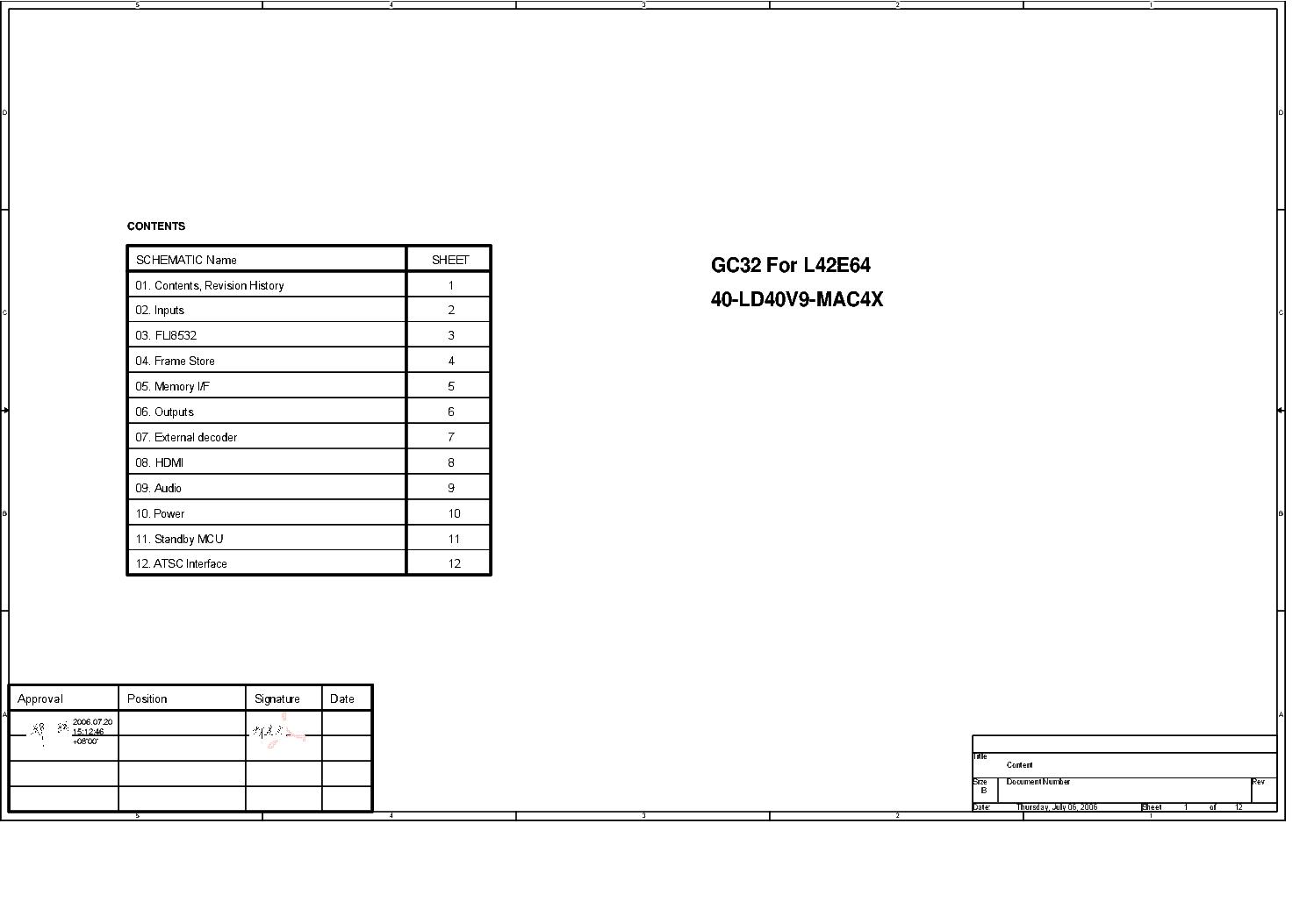 TCL L42E64 40-LD40V9-MAC4X MAIN SCH Service Manual