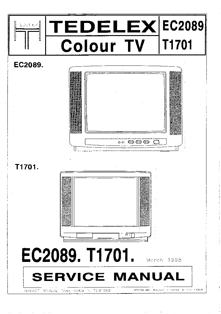TEDELEX EC2109 CHASSIS M5 SM Service Manual download