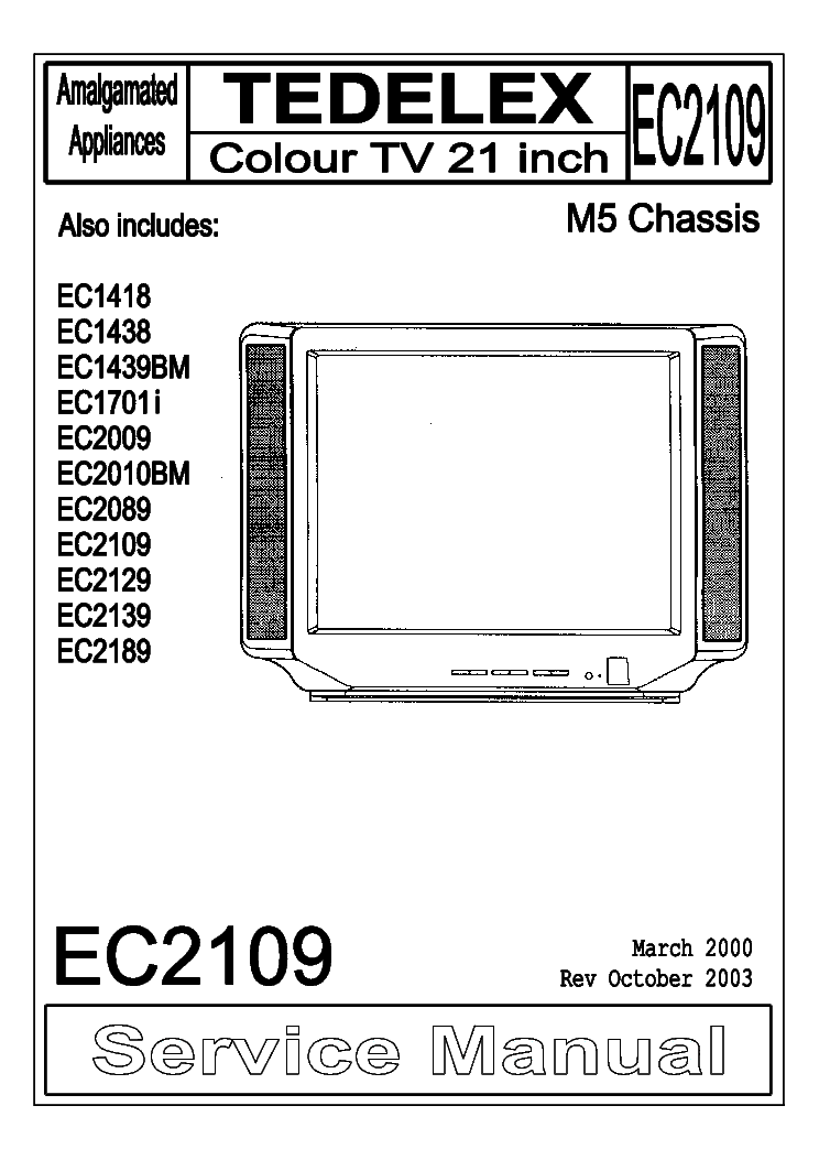 TEDELEX EC2109 CHASSIS M5 SM Service Manual download